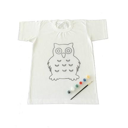 Joy Toys Baykus Desenli Tisort Boyama Seti 6 7 Yas Fiyati