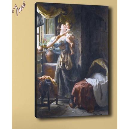 Caddeko Yb198 Anne Ve Bebek Yagli Boya Reproduksiyon Kanvas Fiyati
