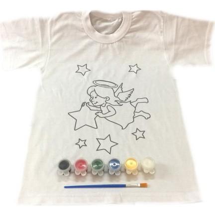 Joy Toys Melek Kız Desenli Tişört Boyama Seti 4 5 Yaş Fiyatı