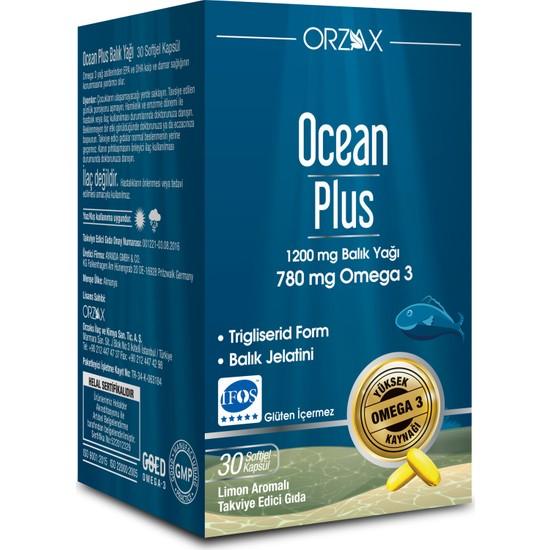 Ocean Plus Plus 1200 mg 30 Kapsül Balık Yağı