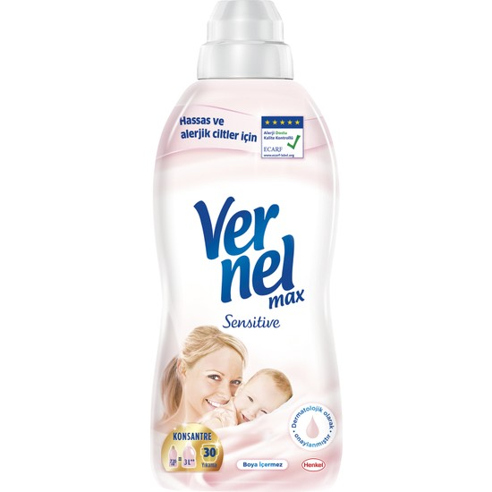 Vernel Max Çamaşır Yumuşatıcı Sensitive 720 ml