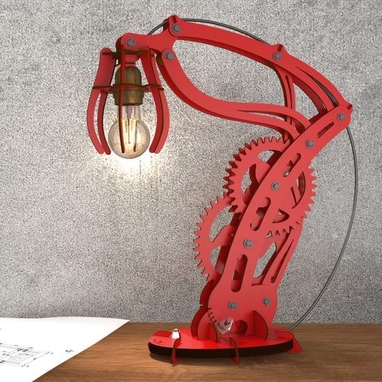 Woodact Larix Mekanik Masa Lambası