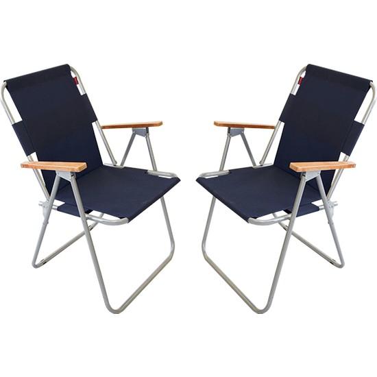 Bofigo 2 Adet Katlanır Sandalye Kamp Sandalyesi Balkon Sandalyesi Katlanabilir Piknik Ve Bahçe Sandalyesi Lacivert