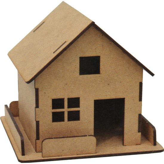 Joy Ahşap Boyanabilir Çiftlik Evi + Boya Seti Hediye