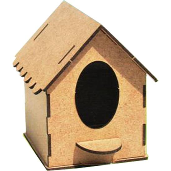 Ahşap Boyanabilir Kuş Evi + Boya Seti Hediye