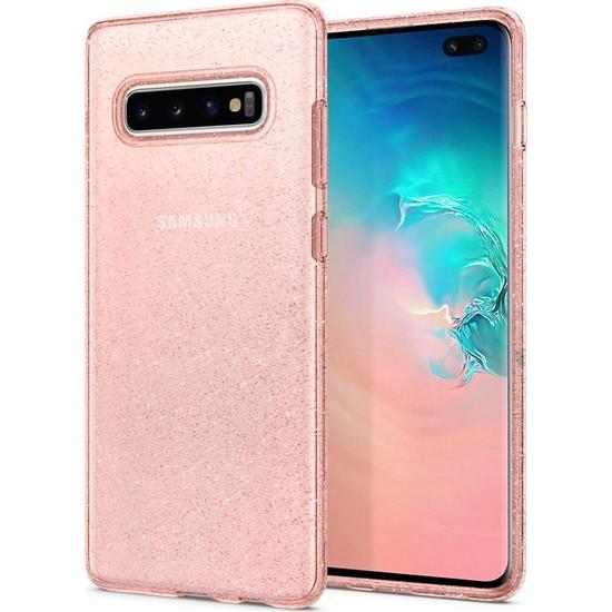 Spigen Samsung Galaxy S10 Plus Kılıf Liquid Crystal Glitter Rose Quartz - 606CS25763