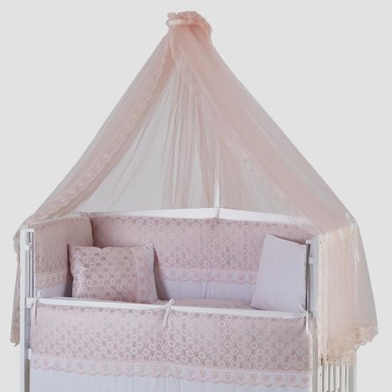 G&G Beşik Lüks Uyku Seti Dream Pembe Cibinlik