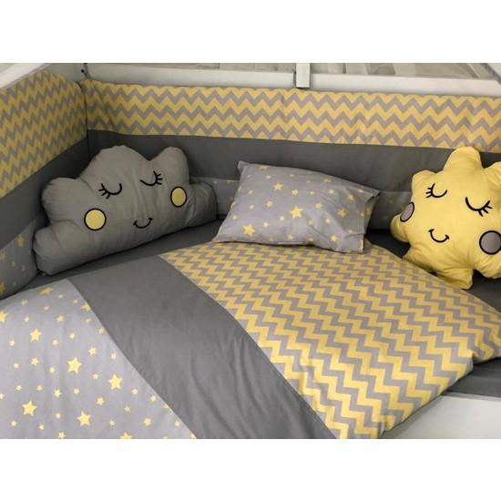 Mini Baby Figürlü Sarı Bebek Uyku Seti 11 Parça