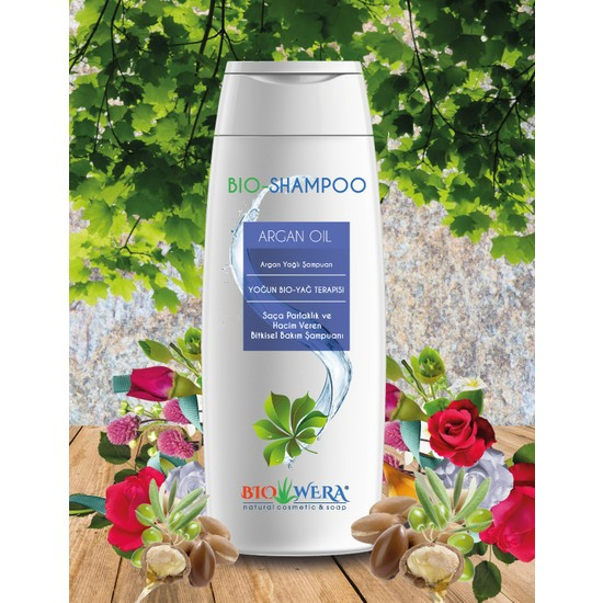Biowera Bio-Shampoo Argan Yağlı Şampuan-Saça Parlaklık Ve Hacım Veren Bıtkısel Bakım Şampuanı - 400 ml