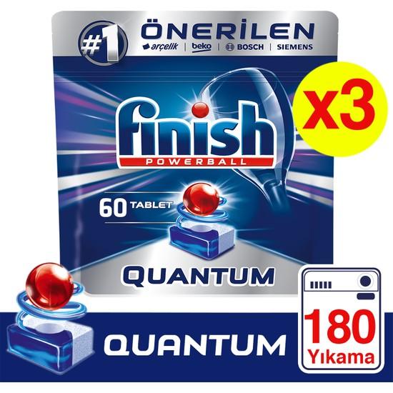 Finish Quantum 180 Tablet Bulaşık Makinesi Deterjanı (60x3)