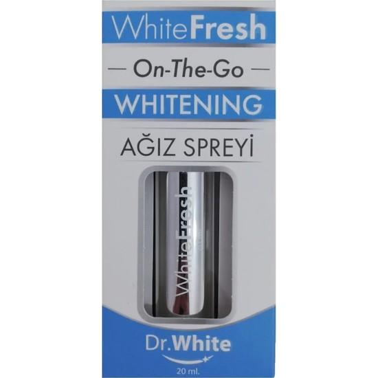 Dr.White White Fresh On-The-Go Whitening Diş Beyazlatma Spreyi 20 ml