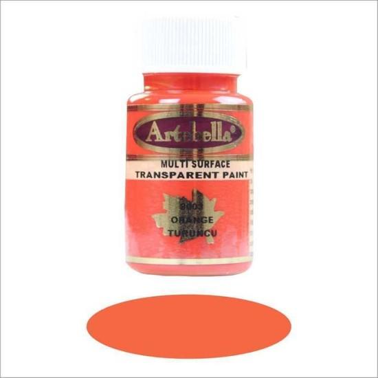 Artebella Multi Surface Transparan Boya 50 cc Turuncu 8003