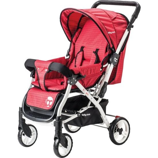 Baby Care Dinamico Çift Yönlü Bebek Arabası Kırmızı
