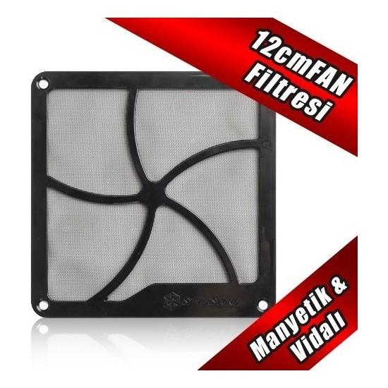 SilverStone 12cm Mıknatıslı Siyah Fan Filtresi (SST-FF122B)