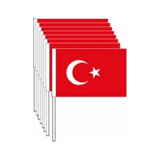 Vatan Küçük Çıtalı Kağıt Bayrak 100Lü Vt801-802