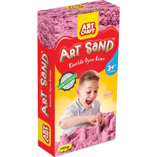 Art Craft Pembe Kinetik Oyun Kumu (1000 Gr)