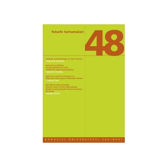 Felsefe Tartışmaları Sayı: 48-J. Thomas Cook