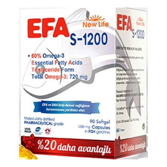 New Life Efa S 1200 Omega 3 Balık Yağı 90 Kapsül