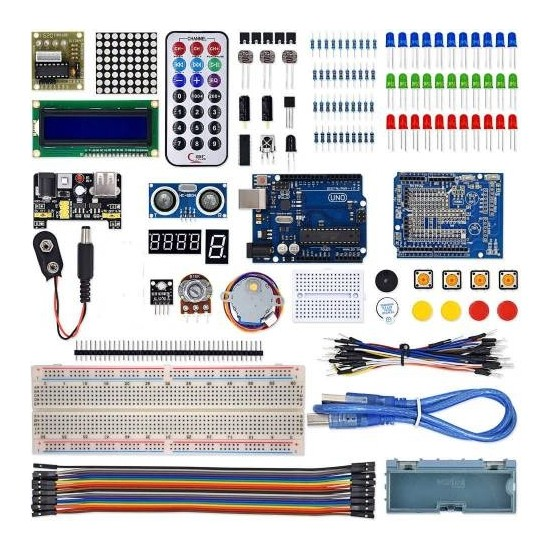 Arduino Uno R3 Full Başlangıç Seti Kutulu 145 Parça 310 Adet Set