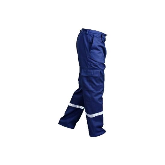 Buriş İş Pantolonu Pamuk Reflektörlü Gabardin Komando Cepli