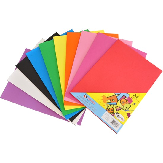 Bafix Yapışkanlı Eva A-4 Düz Renk Adhesive 10 Lu (10 Adet 1 Paket)