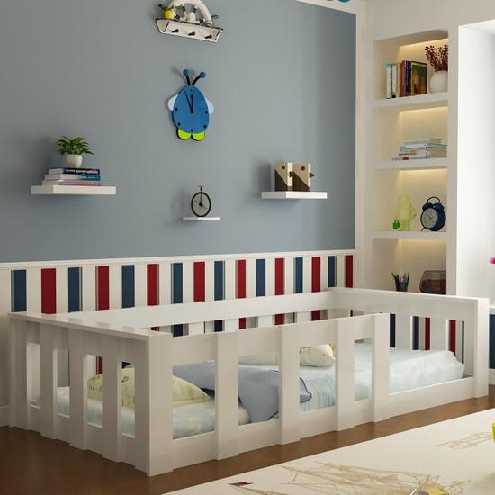 Evbingo İdeal Montessori Genç - Çocuk Karyola Beyaz U2 - 90 x 190 Yatak Uyumlu