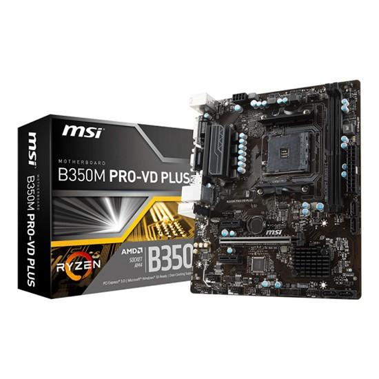 MSI B350M PRO-VD PLUS DDR4 3200(OC) AMD Soket AM4 mATX Anakart