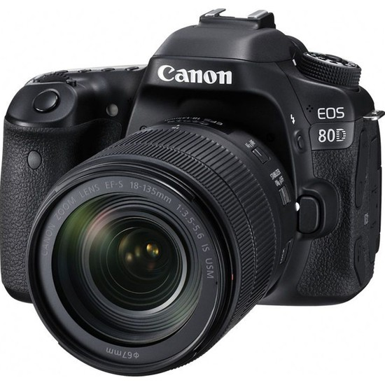 Canon Eos 80D 18-135mm IS USM Nano Lens Kit İthalatçı Garantili