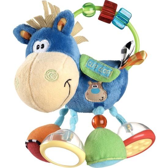 Playgro Toy Box Çıngıraklı Zebra Aktivasyon Oyuncağı - Mavi