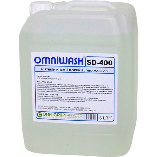 Omniwash Köpük El Sabunu 5 kg Sd400