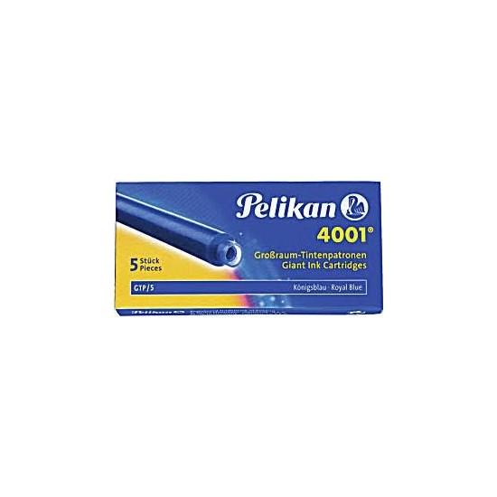 Pelikan 4001 Dolmakalem Kartuşu Dev Royal Mavi (5'li Kutu)