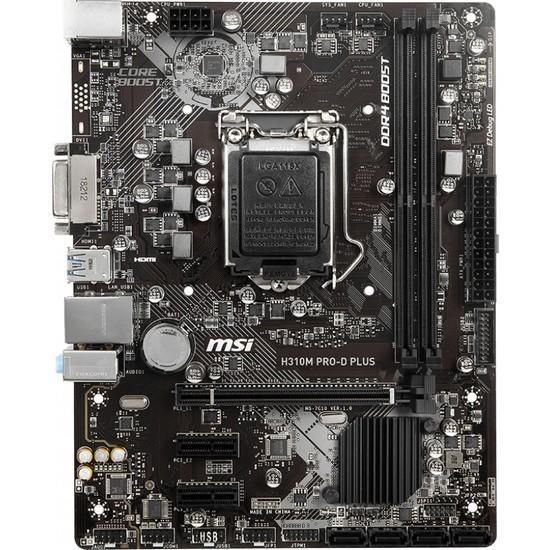 MSI H310M PRO-D Plus Intel H310 2133MHz DDR4 LGA 1151 mATX Anakart