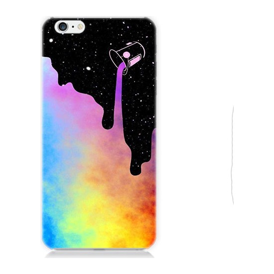 Teknomeg Apple iPhone 6S Renkli Boya Desenli Tasarım Silikon Kılıf