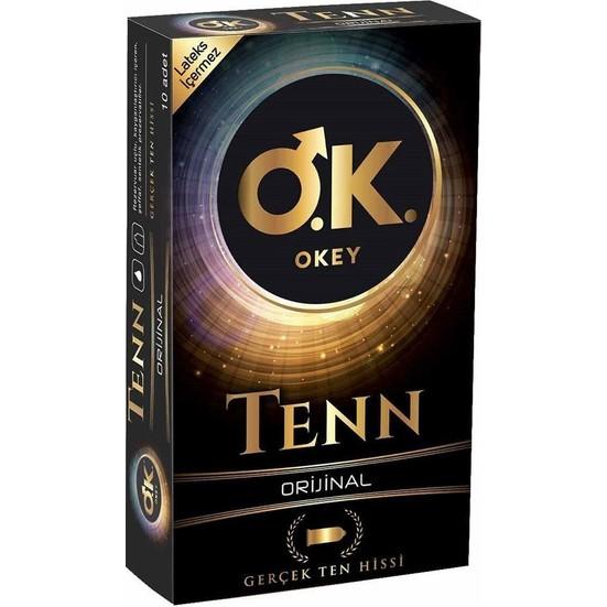 Okey Tenn 10'lu Prezervatif (Non-Lateks)