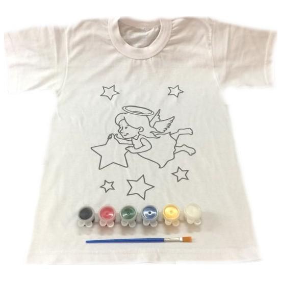 Joy Toys Melek Kiz Desenli Tisort Boyama Seti 8 9 Yas Fiyati