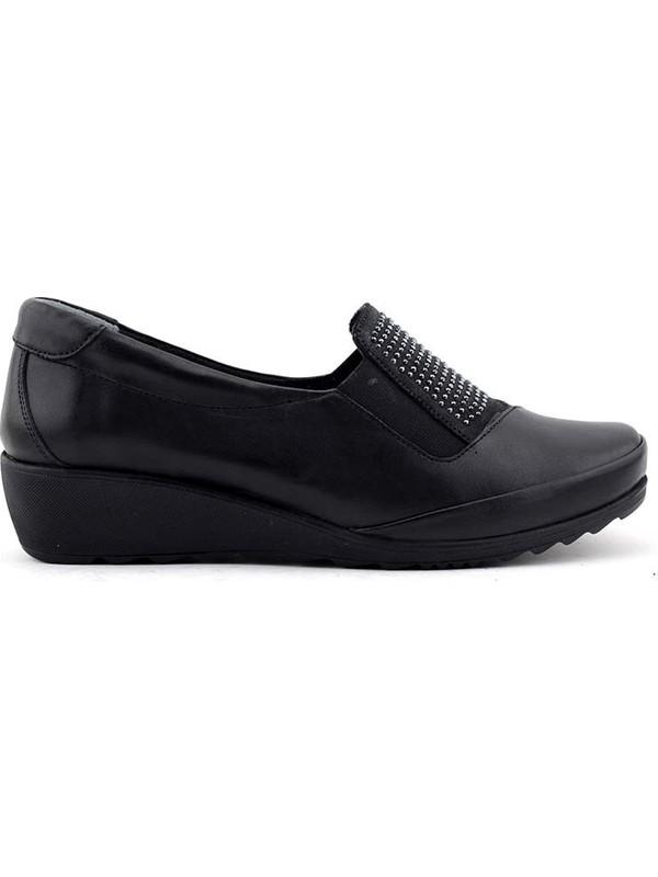 Evida 2591 Hakiki Deri Kadın Ayakkabı