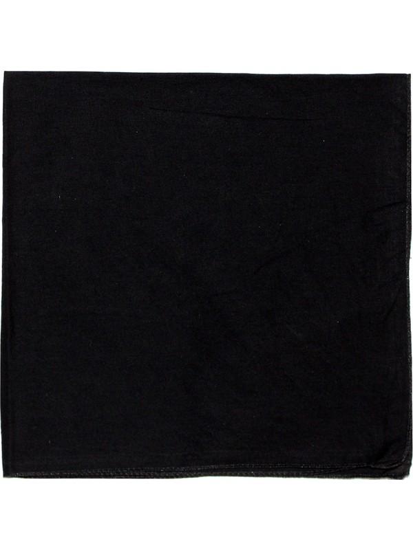 Modaroma Siyah Düz Bandana