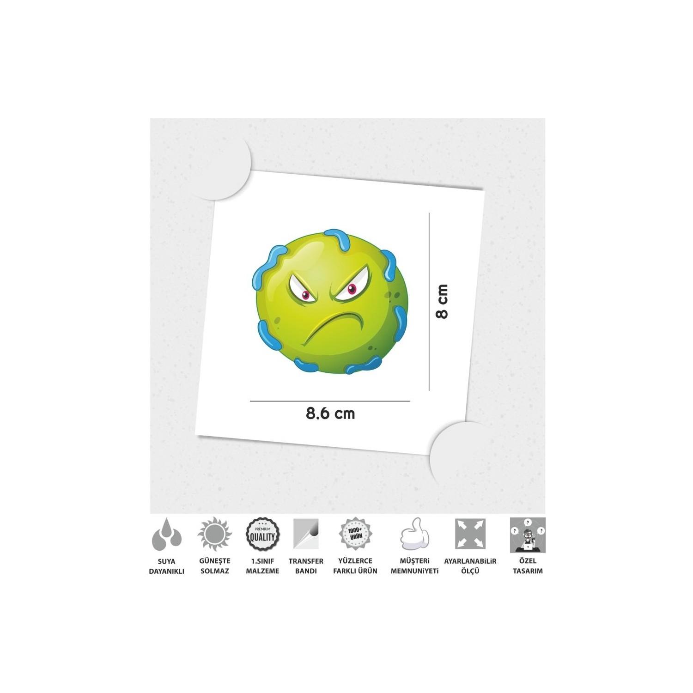 Cinar Extreme Kizgin Suratli Bakteriler Sticker Fiyati