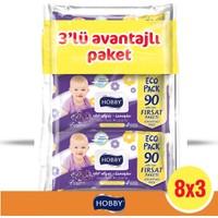 Hobby Lavanta 90 x 24 Kapaklı Islak Mendil