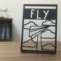 Pirudem Fly POD Metal Tablo 20 x 30 cm