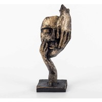 Piyop Bronz Rengi Görmedim Figürlü Mask Biblo 11 x 7 x 27 cm