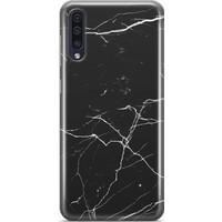 Melefoni Samsung Galaxy A50 Marble Mermer Siyah Beyaz Desenli Kılıf
