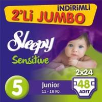 Sleepy Bebek Bezi İkili Jumbo 5 Beden 48 adet