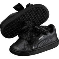Puma Basketheartholidayglamour Siyah Unisex Çocuk Basketbol Ayakkabısı