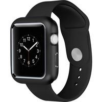 Case Street Apple Watch 42 mm Kılıf Magnetic Cam Full Kapak Siyah