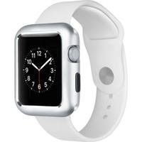 Case Street Apple Watch 40 mm Kılıf Magnetic Cam Full Kapak Gümüş