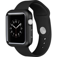 Case Street Apple Watch 40 mm Kılıf Magnetic Cam Full Kapak Siyah