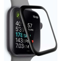 Case Street Apple Watch 44mm Full Yapışan Ekran Koruyucu Siyah