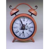 Evim Tatlı Evim Büyük Boy Kedi Figürlü Metal Masa Saati 30 cm