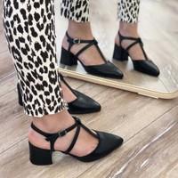 Mio Gusto Zelda Siyah Topuklu Ayakkabı